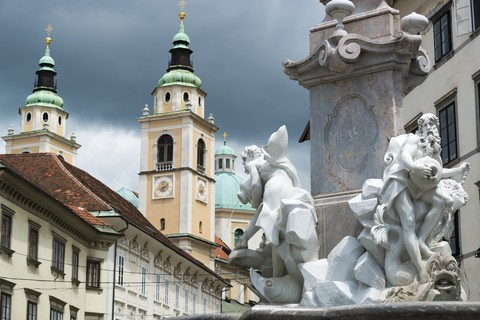 Ljubljana City Hall Fountain